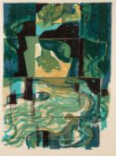 NORMAN JAQUES (1922-2014) TWO COLOUR PRINTS ?Three Aspects of Water?, (1/15), signed and titled