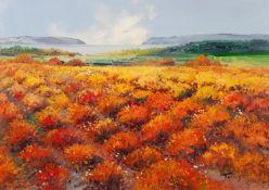 TORRES (TWENTIETH/ TWENTY FIRST CENTURY) OIL ON CANVAS ?Seaside Fields III? Signed, titled to