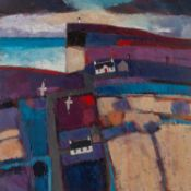 DAVID BODY (TWENTIETH/ TWENTY FIRST CENTURY) OIL ON CANVAS ?Duncansby Fields? Signed, titled to