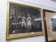 19TH CENTURY BLACK AND WHITE ENGRAVING ?TAMING OF THE SHREW? AND TWO OTHERS, ?ADLINGTON HALL? AND ?