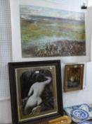 AFTER THE ORIGINAL BY J. SYER SET OF FOUR MATCHING COLOUR LITHOGRAPHS ?Manchester Ship Canal and
