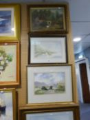 FOUR MODERN AMATEUR WATERCOLOUR DRAWINGS Various scenes All signed 11? x 15 ½? and smaller S.