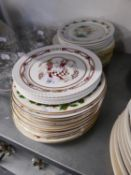 A SET OF 11 COALPORT CHINA CHRISTMAS PLATES, 12 ROYAL DOULTON CHRISTMAS PLATES AND 11 SPODE