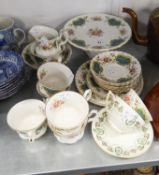 ROYAL ALBERT BONE CHINA 'BERKLEY' PATTERN PART TEA SERVICE