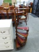 MAHOGANY REPRODUCTION FOUR TIER LIBRARY STEPS