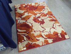 A MODERN ABSTRACT DESIGN SMALL CARPET OR LARGE RUG