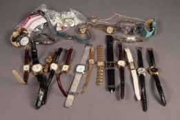 TWENTY FIVE GENT'S AND LADIES WRISTWATCHES, various, mainly with quartz movements, makers include