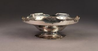 GEORGE VI SILVER SWEET MEAT DISH, of footed form with pierced floral border, 1 ¾? (4.4cm) high, 5 ½?