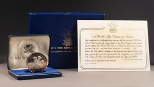 ROYAL MINT SILVER PROOF LIMITED EDITION COMMEMORATIVE MEDALLION 'INVESTITURE OF H.R.H. THE PRINCE OF