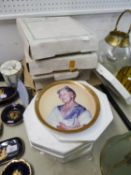 FOUR ROYAL WOCESTER LIMITED EDITION COLLECTORS PLATES, HORSES AND FOALS, FOUR DAVENPORT COLLECTORS