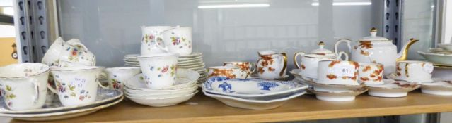 A 1950's JAPANESE SOKO CHINA 17 PIECE TEA SERVICE, WITH CUPS ON COMBINED SAUCER/TEA PLATES, ALSO A