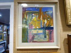 DORIS M. SMITH (Prestwich, Manchester) GOUACHE DRAWING'Mediterranean landscape'labelled verso 16