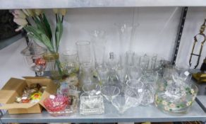 STEM WINE GLASSES AND TUMBLERS AND SUNDRY GLASSWARES, VARIOUS