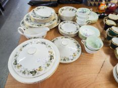 ROYAL DOULTON 'LARCHMONT' DINNER SERVICE AND A PARAGON TEA SERVICE