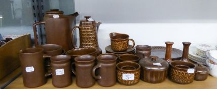 SELECTION OF WEDGWOOD 'PENNINE' OVEN TO TABLE COFFEE AND TEA WARES, MAINLY WITH CASTELLATED EMBOSSED