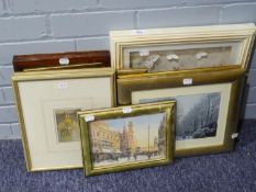 A SELECTION OF PRINTS AND A SMALL MIRROR