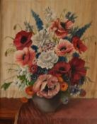W. PALMER (twentieth century)OIL PAINTING ON CANVAS BOARD Flowers in a vase Signed lower right 19