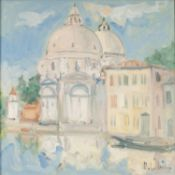 ALBERTO CANDIAN (b.1946) OIL PAINTING ON CANVAS 'La Salute' (Basilica Votiva) Signed lower right,
