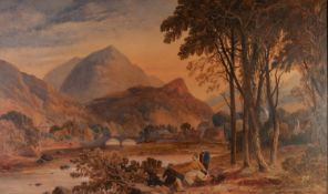 ATTRIBUTED TO CHARLES BARBER (Birmingham & Liverpool 1784 - 1854) WATERCOLOUR DRAWING '