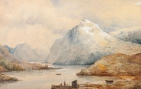 ALEX LEGGETT (late 19th Century) PAIR OF WATERCOLOURS Highland landscapes Both signed lower right,