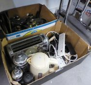 SMALL DOMESTIC ELECTRIC ITEMS TO INCLUDE; PANS, CUTLERY, TABLE MATS ETC.....