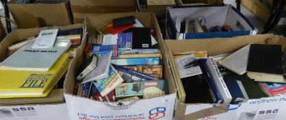 A GOOD SELECTION OF BOOKS, VARIOUS AUTHORS AND SUBJECTS (4 BOXES)
