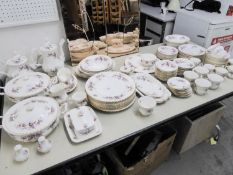 AN APPROXIMATELY 110 PIECE ROYAL ALBERT BONE CHINA 'LAVENDER ROSE' PATTERN DINNER, TEA AND COFFEE