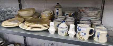 ROYAL STAFFORD RADIO PATTERN BREAKFAST SET FOR FOUR PERSONS, ROYAL STAFFORD BOWLS AND PLATES AND