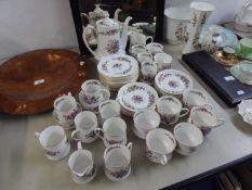 A 49 PIECE CIRCA 1960's PARAGON 'LAVINIA' PATTERN PART TEA AND COFFEE SERVICE