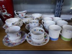 SUNDRY CHINA TEA WARES, INCLUDING; FORTUNE TELLERS CUPS AND SAUCERS, CHILDS NURSERY RHYME TEAPOT,