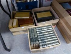 A GOOD SELECTION OF UNIFORM BOUND BOOKS, VARIOUS AUTHORS AND SUBJECTS (3 BOXES)