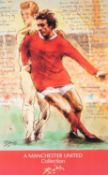 HAROLD RILEY (b.1934) SET OF FOUR ARTIST SIGNED LIMITED EDITION COLOUR PRINTS ?A MANCHESTER UNITED