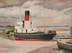 ROGER HAMPSON (1925 - 1996) OIL PAINTING ON BOARD 'Sea Alarm' Signed lower right, titled and