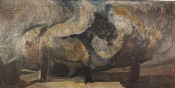 COLIN JELLICOE (1942-2018) OIL ON BOARD ?Trees in Platt Fields?, 1965 Signed, titled and dated verso