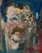 LAWRENCE JAMES ISHERWOOD (1917-1988) OIL ON BOARD ?Toothy Man? Unsigned, titled and dated ?98