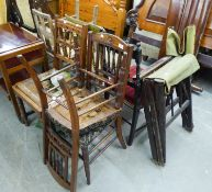 TWO TALBOT ARTS & CRAFTS SINGLE CHAIRS AND VARIOUS OTHER CHAIRS (8)