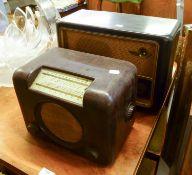 TWO VINTAGE BUSH RADIOS, models: DAC.90 and VHF 61, (2)