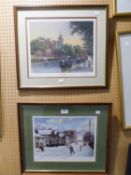 PATRICK BURKE TWO ARTIST SIGNED LIMITED EDITION COLOUR PRINTS ?Winter Games?, (262/800)?Late