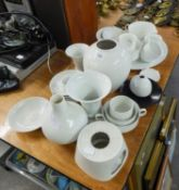 SELECTION OF MID TWENTIETH CENTURY WHITE GLAZED GERMAN PORCELAIN, MAKERS TO INCLUDE; ROSENTHAL