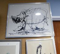 RUTH ROLAND (MODERN) FOUR LIMITED EDITION MONOCHROME PRINTS OF DRAWINGS MADE AT SLIMBRIDGE