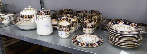EARLY 20th CENTURY STAFFORDSHIRE PORCELAIN 57 PIECE TEA SERVICE