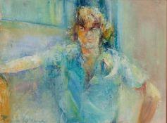 PAULINE VIVIENNE (TWENTIETH/ TWENTY FIRST CENTURY) THREE WORKS ACRYLIC ON PAPER Half-length portrait