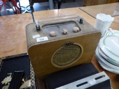 EVER READY 'SKY QUEEN' VINTAGE RADIO RECEIVER, IN SIMULATED SNAKE SKIN COVERED CASE WITH PERSPEX