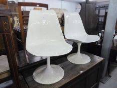 PAIR OF ITALIAN WHITE FINISHED 'EGG' CHAIRS
