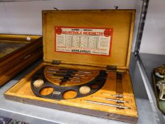 MOORE AND WRIGHT ADJUSTABLE MICROMETER SET, No. 943X, IN CASE