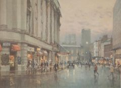 BOB RICHARDSON (B. 1938) ARTIST SIGNED LIMITED EDITION COLOUR PRINT St. Ann?s Square, Manchester, (
