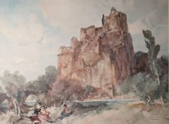 AFTER SIR WILLIAM RUSSELL FLINT LIMITED EDITION COLOUR PRINT 'Picnic at Le Roche', (832/850)