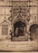 JAMES HAMILTON MACKENZIE (1875-1926) ARTIST SIGNED ETCHING Entrance to French Chapel 9 ½? x 6 ¾? (