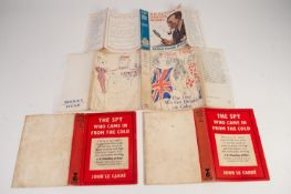 MODERN FICTION. A quantity of scarce, LOOSE DUST JACKETS for various iconic 20th Century titles,