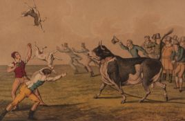 I CLARK AFTER H. ALKEN PAIR OF AQUATINTS ?Bull Baiting?, Published by T. Mclean, 1820 7 ½? x